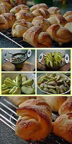 Как приготовить яблочные рогалики - рецепт, ингридиенты и фотографии