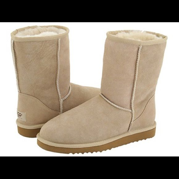 UGG classic short boots Color: sand. Never worn. Brand new without tags. UGG Shoes Ankle Boots & Booties