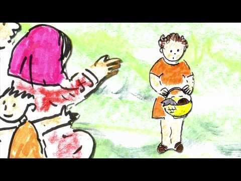 La multiplication des pains de Jésus (pour enfants) dessinée et racontée par Martine Bacher. Pour enfants de 4 à 8 ans.