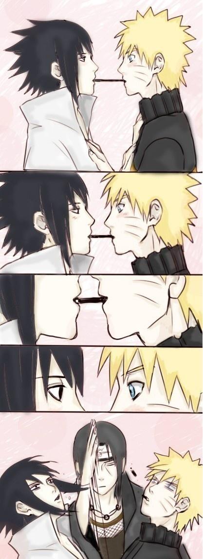 Naruto - Sasuke Uchiha x Naruto Uzumaki + Itachi Uchiha