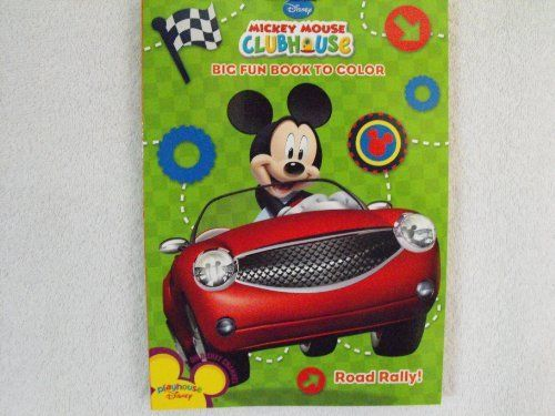 Mickey Mouse Clubhouse Big Fun Book To Color Road Rally