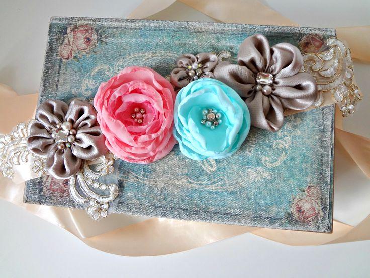 "Wedding belt,Fabric flowers belt,Lace belt,Sash belt/ Brau mireasa /accesoriu multifunctional ""Lovely colors "" on https://www.breslo.ro/aura.angeline"