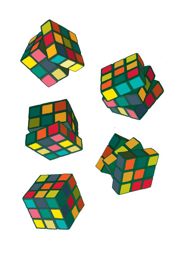 Rubik's Cubes - Play by DRIEHOEK. Illustrated by Megan Bird