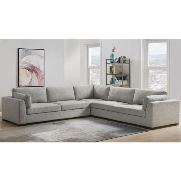Bellingham Gray Sectional Weekends Only Furniture Grey Sectional Gray Sectional Living Room Spacious Sofa