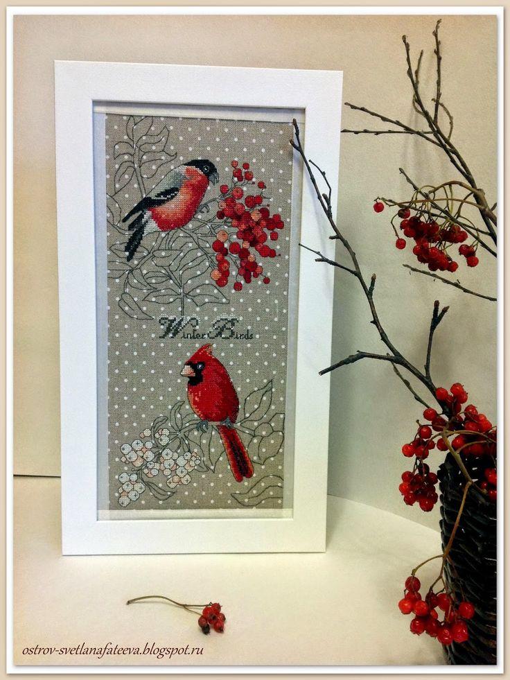 Остров рукодельного удовольствия.: Зимние птицы от Ajisai Designs.