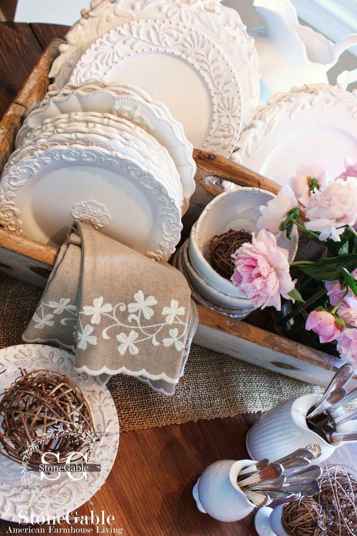 farmhouse dish set white