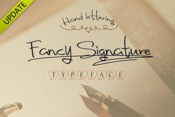 Fancy Signature TrueType Font by alphadesign on Creative Market