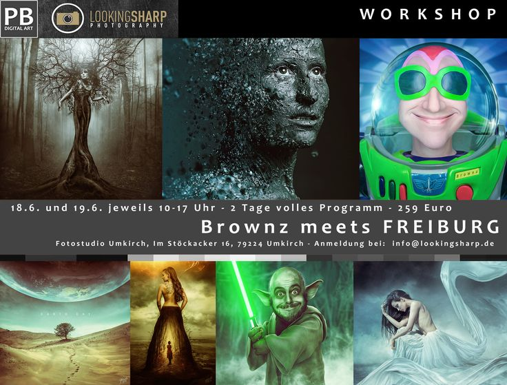 Zwei Tage – volles Programm – Brownz meets Freiburg! Der österreichische Photoshop Künstler, Trainer und Autor vieler Fachartikel und Tutorials kommt exklusiv nach Freiburg und lädt euc…