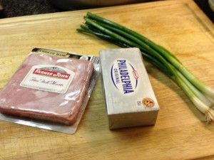Ham and Green Onion Cream Cheese Ball Ingredients
