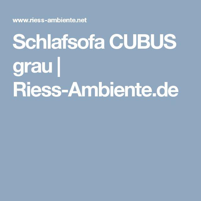 Schlafsofa CUBUS grau | Riess-Ambiente.de