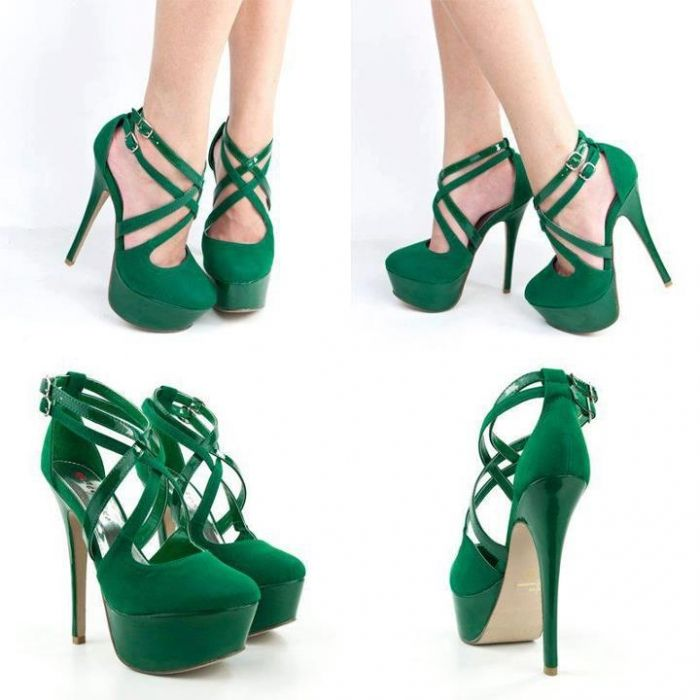 109 best Green Shoes images on Pinterest | High heels, Shoes heels ...