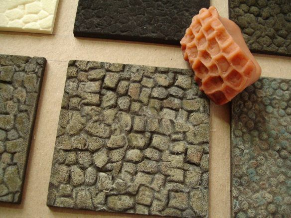 How to make relief pattern forms to create different stone effects with some painting techniques.