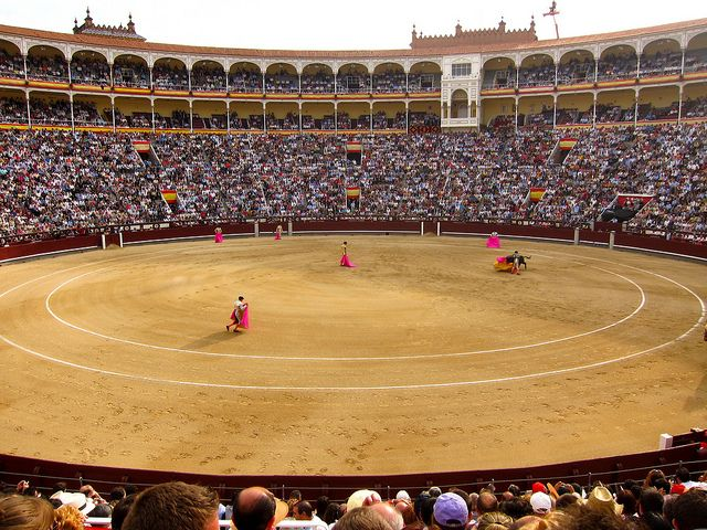 La Plaza de Toros de Las Ventas, Madrid, Spain. My first and last bullfight was seen here.