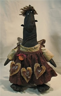 Proper Prim lady - primitive , folk art , stuffed doll
