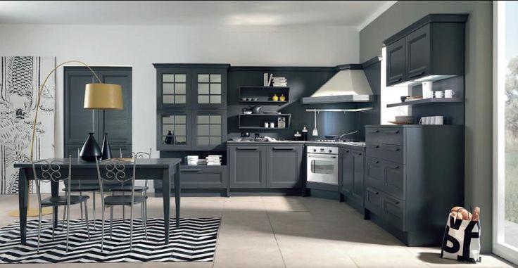 Ylenia is a country modern kitchen model, prestigious to the modern lifestyle.