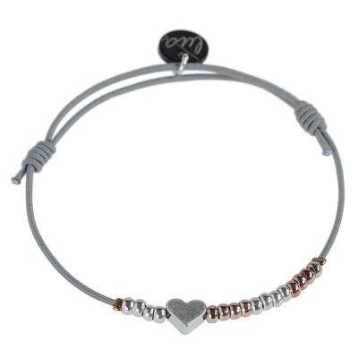 """Lua Armband """"Heartbeat"""" - Grau"""
