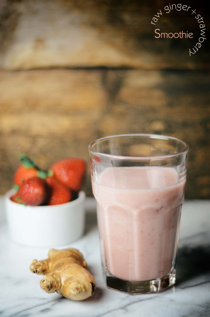 A Brown Table: See Taste Love: raw ginger strawberry smoothie