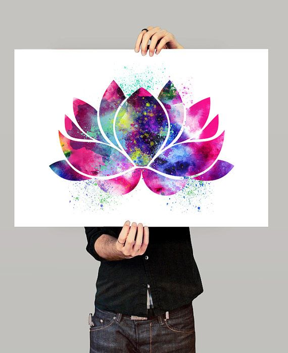 Lotus Flower Art oeuvre de Yoga décor fleur de par FineArtCenter