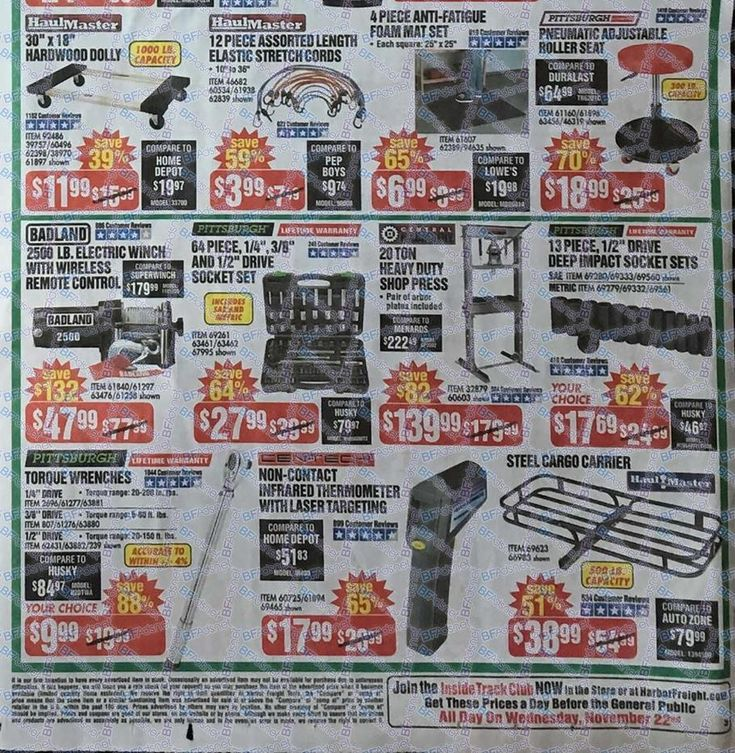 Harbor Freight Black Friday 2017 Ads and Deals Harbor
