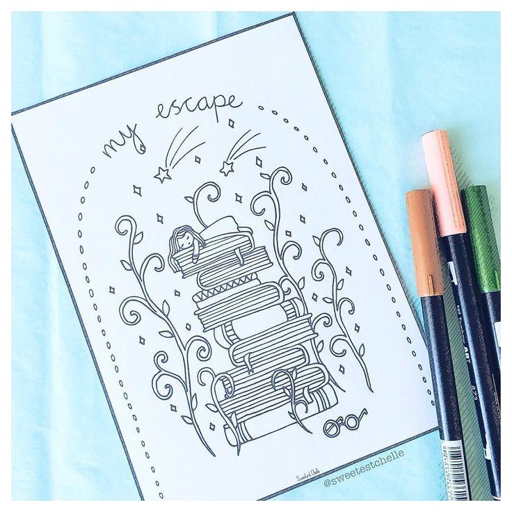 My escape.. #booklovers #coloringbookforadults