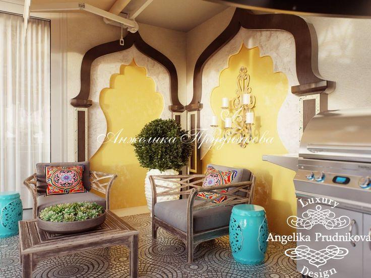 Дизайн террасы в восточном стиле - фото
