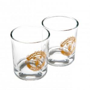 Manchester United Whiskey Glass Set (Pack of 2)