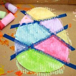 Wet Chalk Tape Resist from Mom to 2 Posh Li'l Divas