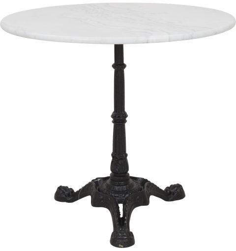 Madras Round Table with Cast Iron Base, White