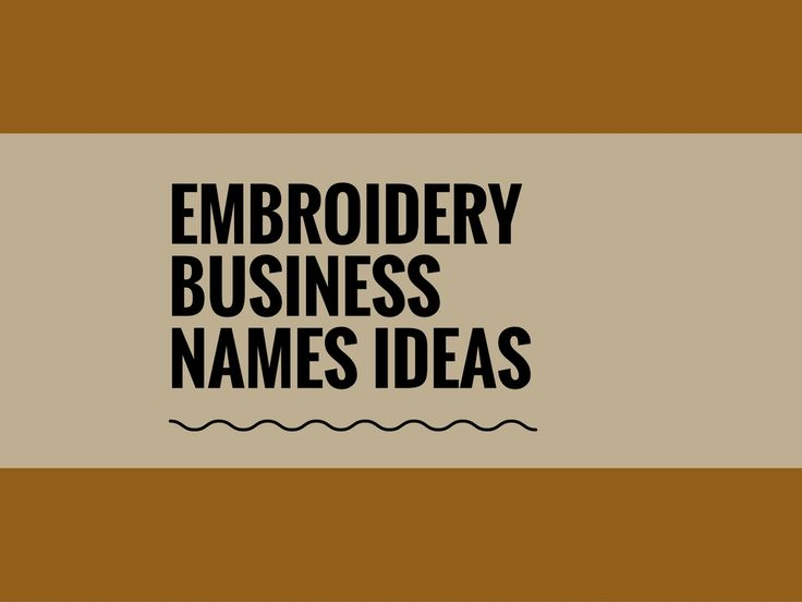 A Creative name is the most important thing of marketing. Check here creative, best Embroidery Business names ideas for your inspiration.
