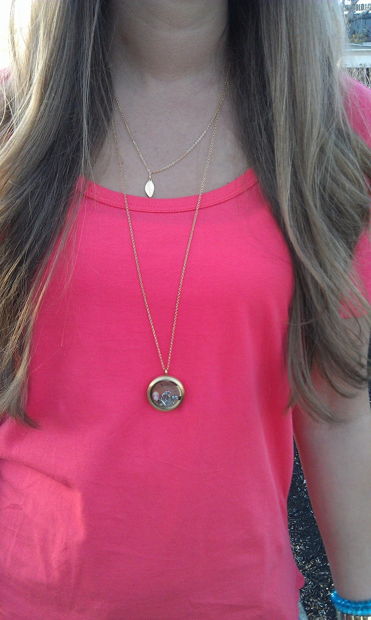 @Caroline Gladney Maggie necklace with my Origami Owl charm necklace