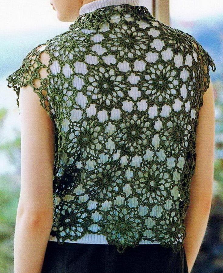 Free Crochet Pattern For Lace Vest : crochet vest Crochet Sweater: Crochet Vest Pattern Free ...