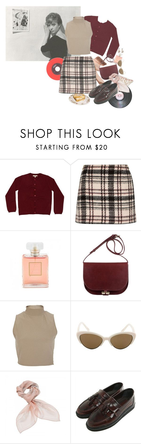 """""""i have been listening to a lot of music from the 1960s"""" by weimarerkunstlerin ❤ liked on Polyvore featuring Poppy Rose, Chanel, River Island, Linda Farrow, Alexander McQueen, The Cover and Marco Bicego"""