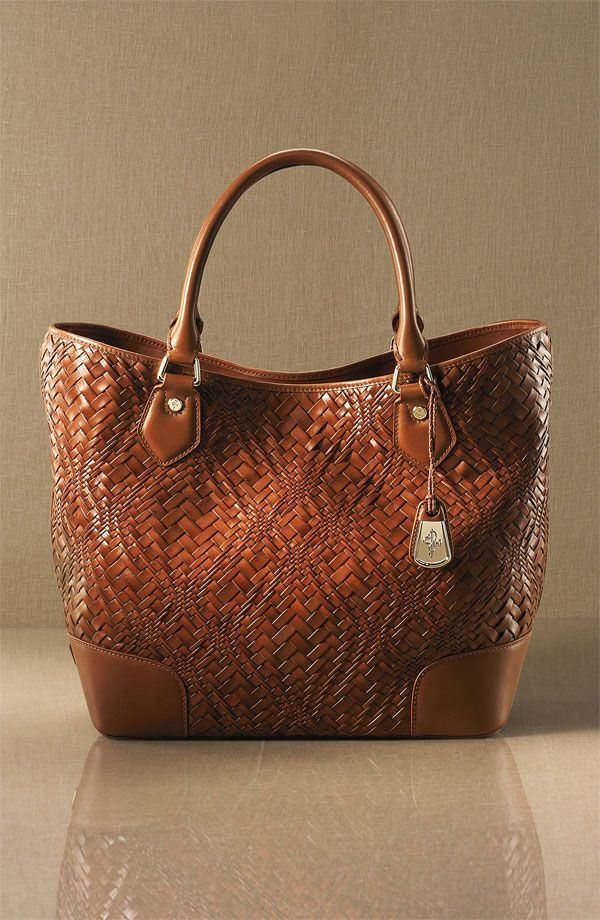 woven leather Cole Haan bag - wow!