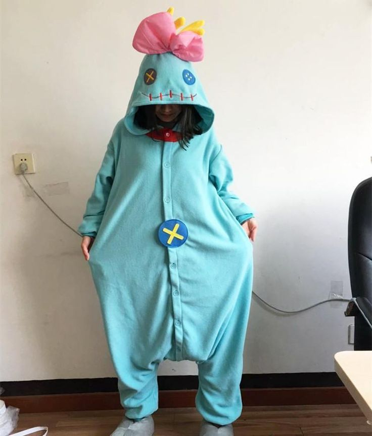Kigurumi Lilo and Stitch Scrump Cosplay Animal Costume Onesie Pajamas Christmas  Condition: 100% unbranded new Package: 1 costume only( slipper not included)  Related Cartoon: Lilo Stitch  Theme: Halloween Christmas Party Cosplay  Style: Novelt...