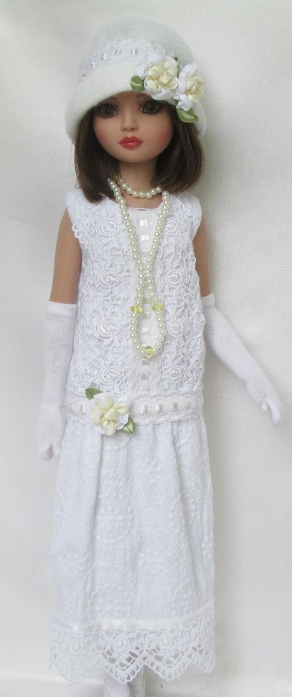 LADY ELLOWYNE'S GARDEN PARTY (1920S) DRESS for ELLOWYNE WILDE includes Hat, Gloves, Stockings & Necklace, by ssdesigns via eBay SOLD 6/6/15  BIN $65.99