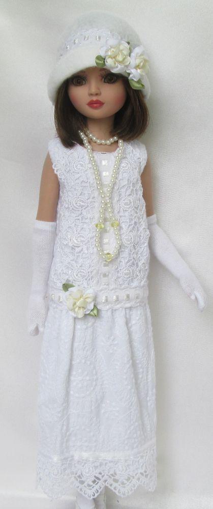 LADY ELLOWYNE'S GARDEN PARTY (1920S) DRESS for ELLOWYNE WILDE includes Hat, Gloves, Stockings & Necklace, by ssdesigns via eBay SOLD 6/6/15  BIN $65.99