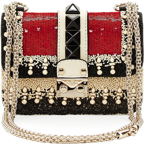 Valentino Mini Embellished Shoulder Bag (28.030 ARS) ❤ liked on Polyvore featuring bags, handbags, shoulder bags, valentino, clutches, purses, borse, convertible crossbody, mini handbags and mini crossbody purse