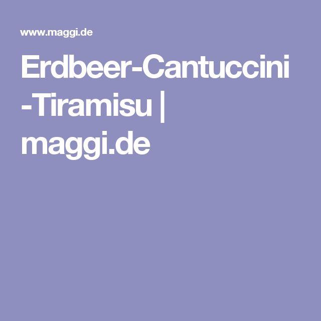 Erdbeer-Cantuccini-Tiramisu | maggi.de
