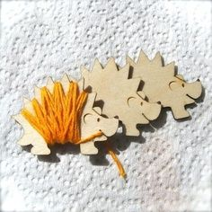 Hedgehog floss holders - so cute!