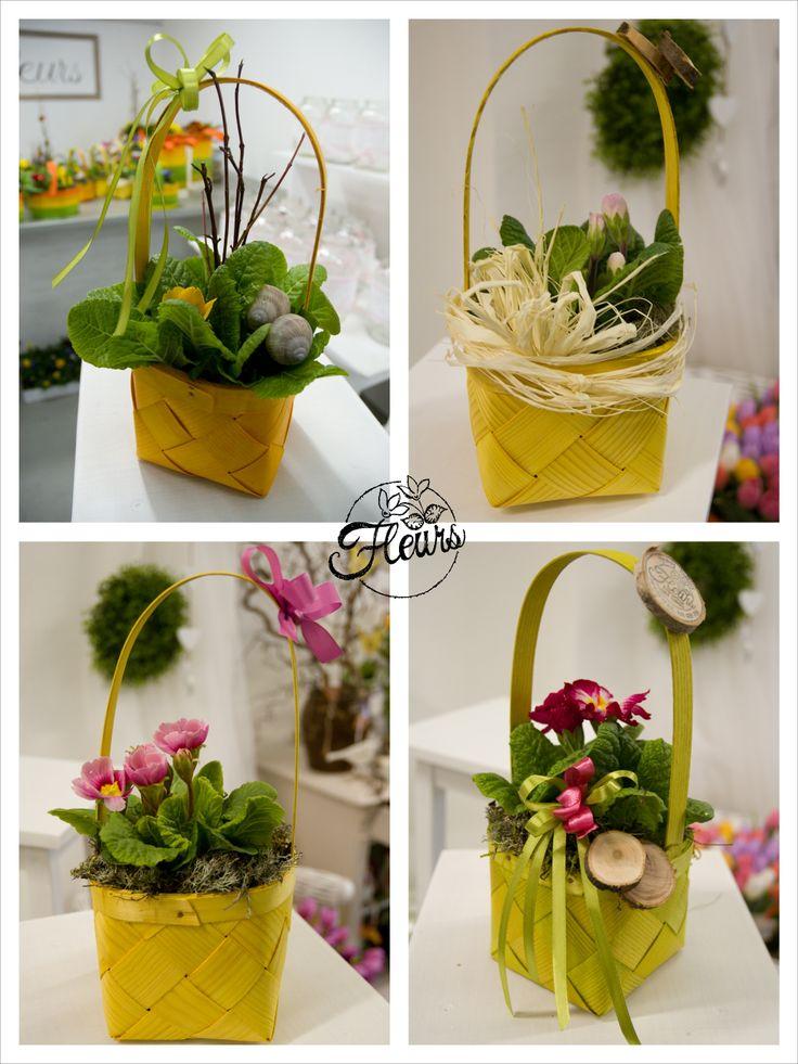 Jarní košíčky / Květiny Fleurs #spring #decoration