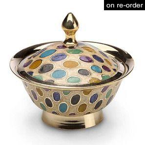 Dotty Design Enamel Brass Box