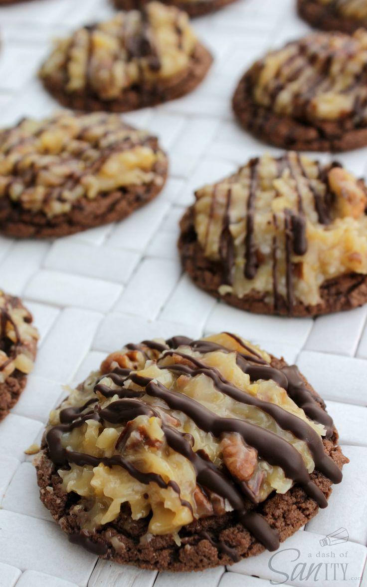 German Chocolate Cake Cookies!