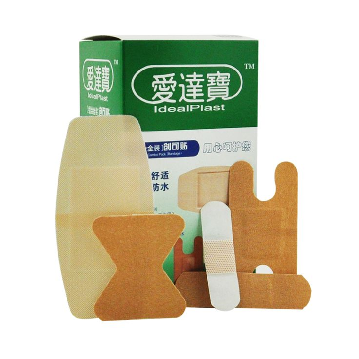 Free Shipping 100PCs/Box Fingertip Joints Large area Breathable Assorted 5 Sizes Band Aid Bandages Sets Household