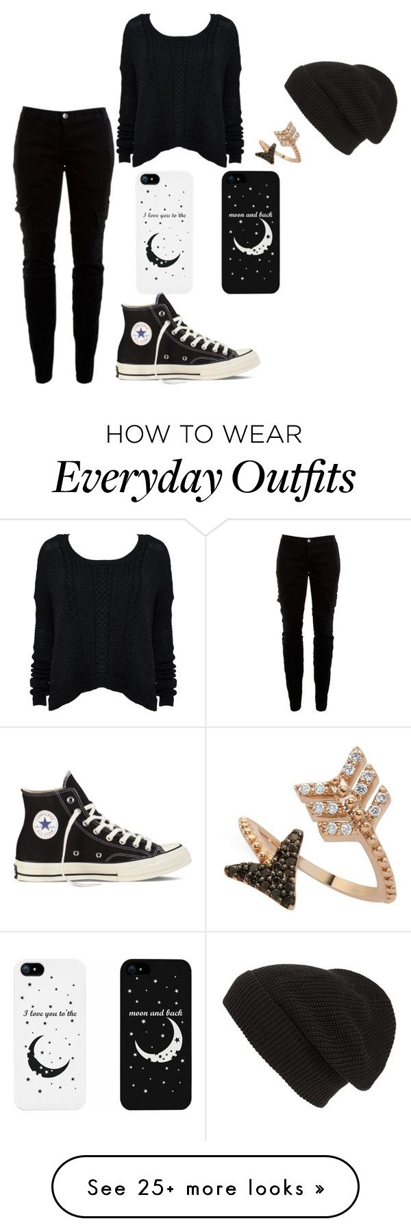 """""""everyday outfit"""" by pinklovebooks on Polyvore featuring Phase 3, Joie, Bee Goddess, Converse, cute and mine"""