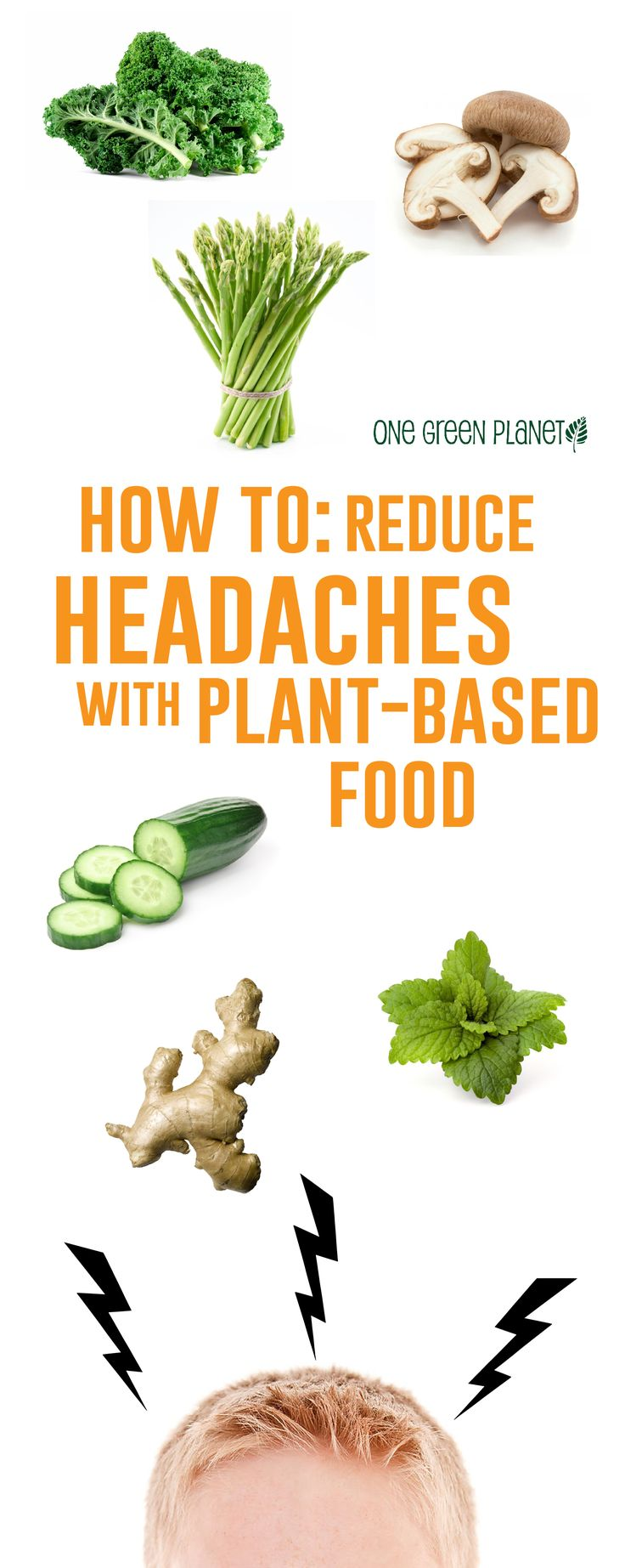 Reduce Headaches with Plant-Based Foods #vegan