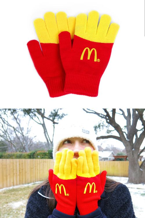 McDonald's French fries gloves. Don't get confused and bite your fingers!