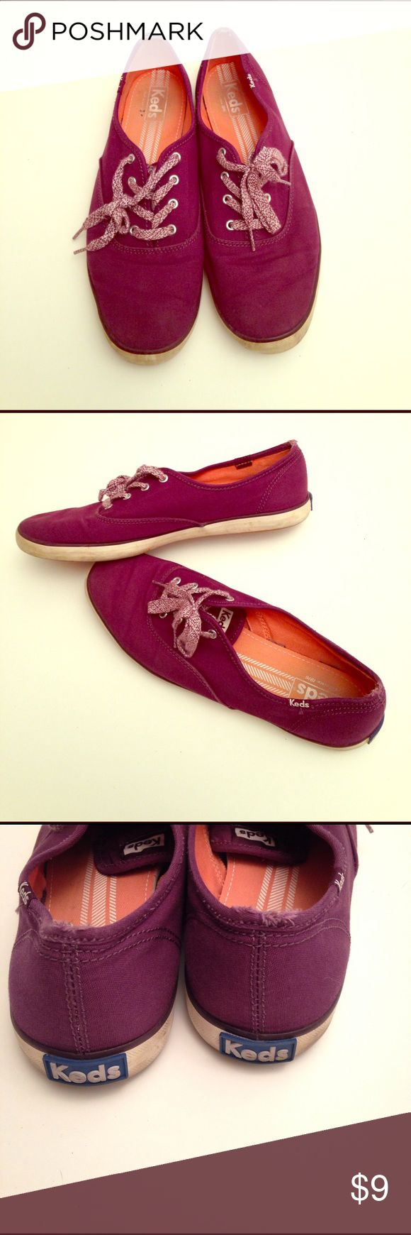 Purple Keds sneakers size 9.5 Cute purple Keds! Well loved. Not my style anymore. True to size Keds Shoes Sneakers