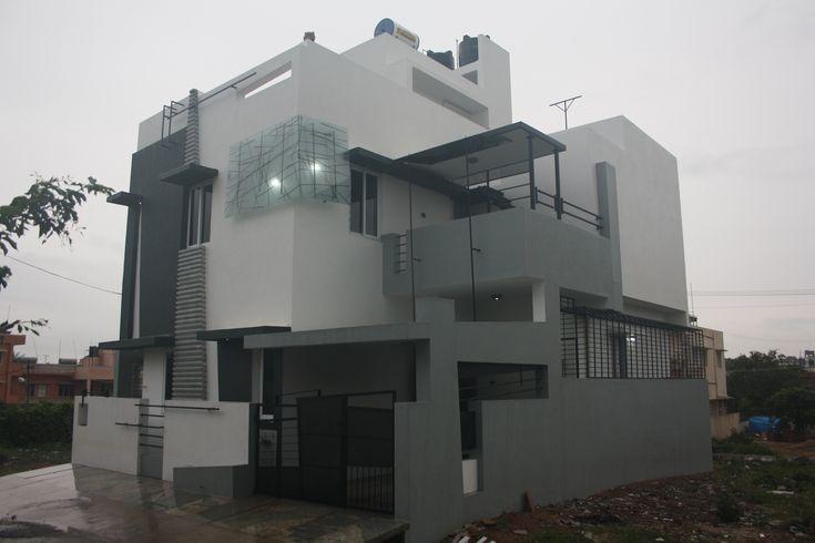 10 best images about front elevation designs on pinterest for Duplex bungalow elevation