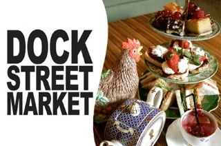 Food and teapot cocktails at Dock Street Market