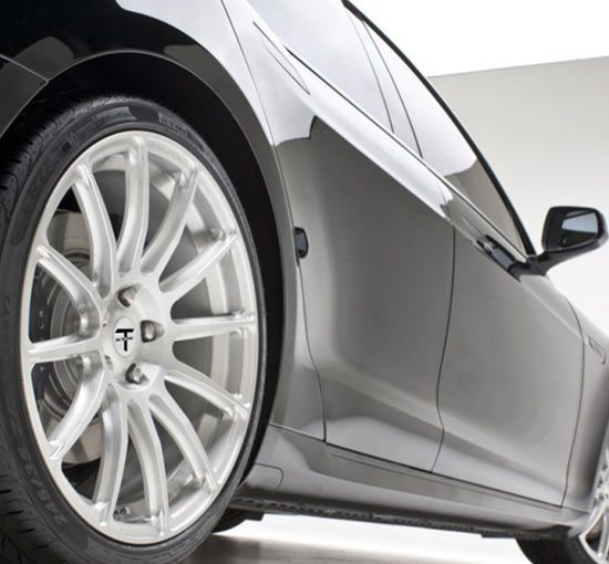 The T Sportline TST 20″ Tesla Model X turbine style wheel is built for both the Tesla Model X and Tesla Model S. The TST 20″ wheel set for the Tesla Model X comes in a staggered 20×9.0″ front and 20×10.0″ rear for ultimate performance and conforms to the factory 20″ wheel size. The TST …